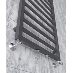 Grzejnik dekoracyjny, łazienkowy Modern 1240x530 - Czarny mat