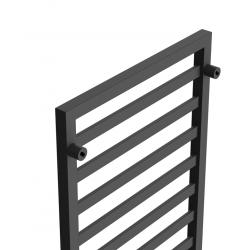 Czarny mat Grzejnik dekoracyjny, łazienkowy Modern 1240x530