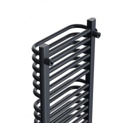 Grzejnik łazienkowy 1350x650 Old-school - Czarny mat