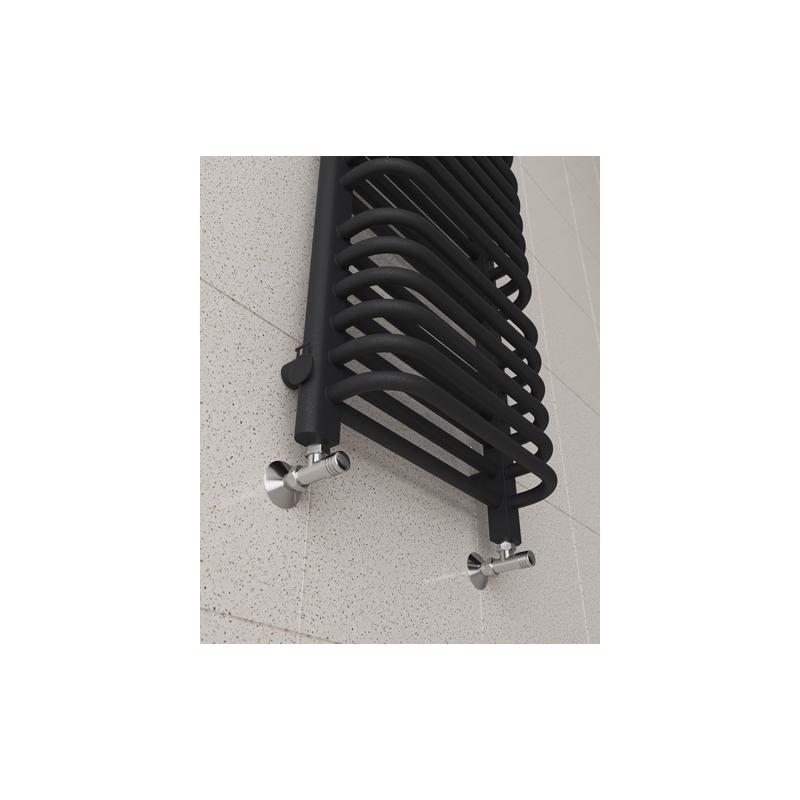 Grzejnik łazienkowy 1350x650 Old-school - Czarny mat sprawdzony i tani