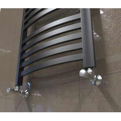 Grzejnik łazienkowy 1350x570 Classic - Czarny mat elegancki