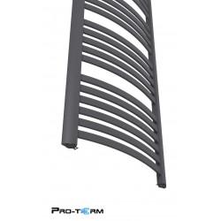 Grzejnik łazienkowy 1350x570 Classic - Czarny mat