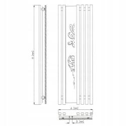 Grzejnik łazienkowy 600/1800 mm 863W Biały