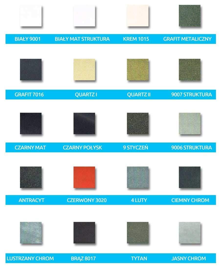 Paleta kolorów Pro-Term